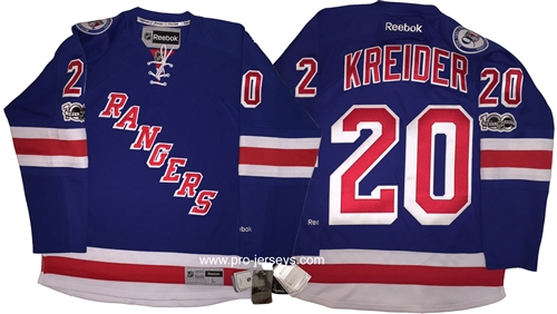 Reebok Premier 90th Anniv   100th NHL Anniv New York Rangers  20 ... 74df32f9167