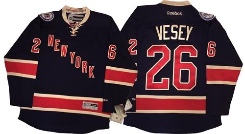 new arrival 1c59e 64d20 Reebok Premier NHL New York Rangers #26 Jimmy Vesey Navy Alt Jersey