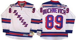 Reebok Premier NHL 90th Anniv New York Rangers #89 Pavel Buchnevich Away White Jersey