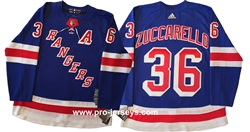 Adidas 2018 Authentic NHL New York Rangers #36 Zuccarello Jersey