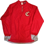 Majestic Chiefs  Pro Style 1/4 Zip Convertible CoolBase Gamer Jacket