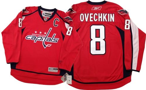 meet 2e4b9 e0b13 Official Reebok Washington Capitals #8 Ovechkin Home Red Jersey
