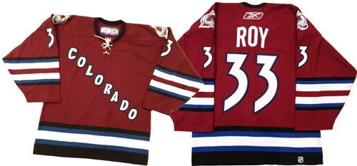 half off e8aca 1e868 Official Reebok Colorado Avalanche #33 Patrick Roy Jersey