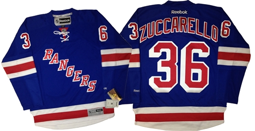 Official Reebok Premier New York Rangers  36 Mats Zuccarello Home Blue  Jersey 8c6917f00