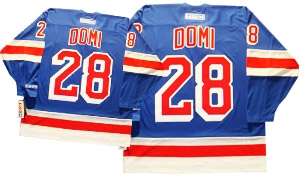 online store a1cb3 0d1ed Official CCM 550 New York Rangers #28 Tie Domi Jersey