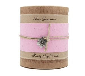 Boutique Purity Soy Candle Rose Geranium