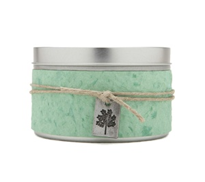 Large Tin Growth Soy Candle Rosemary Tea Tree