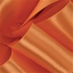 Burnt Sienna Satin Ribbon - Offray Single Face - 5 Widths 100 Yards