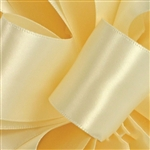 Cream Satin Ribbon - Offray Single Face - 5 Widths 100 Yards