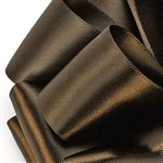 Brown Satin Ribbon - Offray Single Face - 5 Widths 100 Yards
