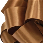 Coffee Satin Ribbon - Offray Single Face - 5 Widths 100 Yards