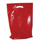 "11"" x 15"" x 3"" Value Color Red Plastic Bags"