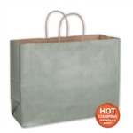"Metallic Sagee Paper Shopping Bags 16"" x 6"" x 12"""