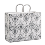Damask Shopper Kraft paper shopping bags