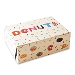 "10"" x 7"" x 3-1/2"" Printed Donut Bakery Boxes"