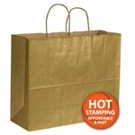 "Metallic Gold Paper Shopping Bags 16"" x 6"" x 12"""