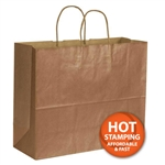 "Metallic Copper Paper Shopping Bags 16"" x 6"" x 12"""