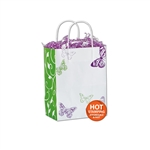 All A Flutter White Kraft paper shopping bags