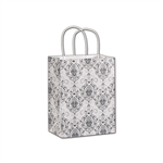 Black Damask Cub paper shopping bags