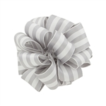 Wired Striped Carnival Grosgrain - Grey/White
