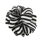 Wired Striped Carnival Grosgrain - Black/White