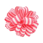Wired Striped Carnival Grosgrain - Pink/White