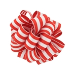 Wired Striped Carnival Grosgrain - Red/White