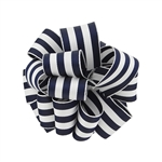 Wired Striped Carnival Grosgrain - Navy/White