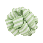 Wired Striped Carnival Grosgrain - Clean Green/White