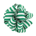 Wired Striped Carnival Grosgrain - Green/White