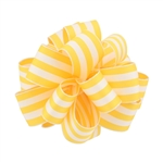 Wired Striped Carnival Grosgrain - Yellow/White