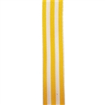 Striped Carnival Grosgrain - Yellow/White