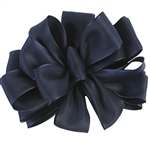 "Navy Blue Herringbone Ribbon - 2 Widths 7/8"" or 1.5"" 50 yards/roll"