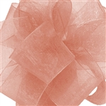 Offray Simply Sheer Asiana Ribbon - New Coral