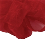 Scarlet Sheer Asiana Ribbon - 5 widths - 100 yards