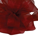Wine Sheer Asiana Ribbon - 5 widths - 100 yards
