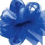 Royal Blue Sheer Asiana Ribbon - 5 widths - 100 yards