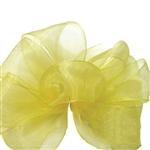 Offray Simply Sheer Asiana Ribbon - 642 Yellow - 5 Widths - 100 yards