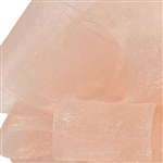 Offray Simply Sheer Asiana Ribbon - 720 Peach - 5 Widths - 100 yards