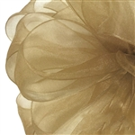 Offray Simply Sheer Asiana Ribbon - 823 Champagne - 5 Widths - 100 yards