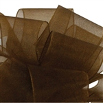Offray Simply Sheer Asiana Ribbon - 869 Chocolate - 5 Widths - 100 yards
