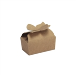 Small Kraft Bow Favor Candy Boxes