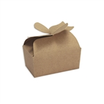 Large Kraft Bow Favor Candy Boxes