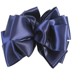 Offray Double Lush Satin Navy Blue
