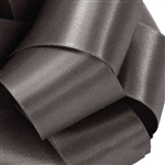 Pewter Double Faced Satin Ribbon - 5 widths - 100 yards
