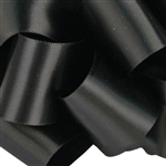 Black Double Faced Satin Ribbon - 6 widths - 100 yards