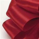 Red Double Faced Satin Ribbon - 6 widths - 100 yards