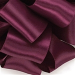 Wine Double Faced Satin Ribbon - 4 widths - 100 yards