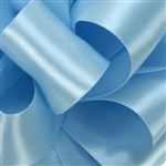 Light Blue Double Faced Satin Ribbon - 5 widths - 100 yards
