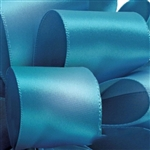 Turquoise Double Faced Satin Ribbon - 5 widths - 100 yards